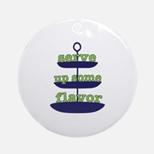 Serve Up Some Flavor Ornament (Round)