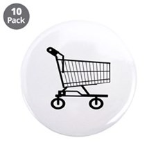 "Shopping Cart 3.5"" Button (10 pack)"