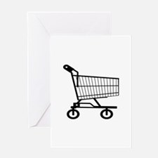 Shopping Cart Greeting Cards