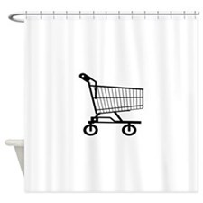 Shopping Cart Shower Curtain