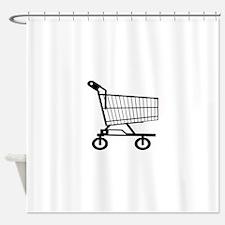 Shopping Cart Shower Curtain