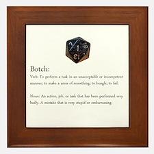 D20 Botch Framed Tile
