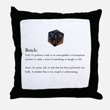 D20 Botch Throw Pillow