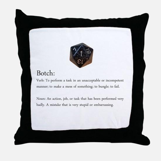 D20 Botch Throw Pillow
