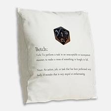 D20 Botch Burlap Throw Pillow