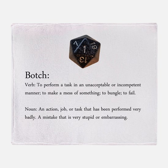 D20 And D10 Botch Throw Blanket