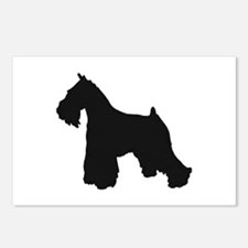 schnauzer black 2 Postcards (Package of 8)