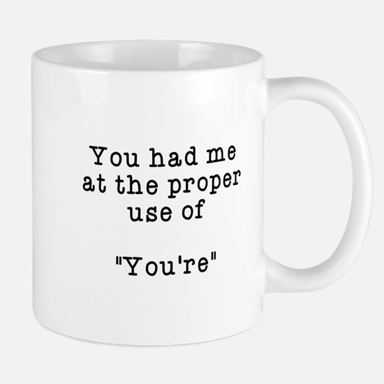 Proper use of you're Mug