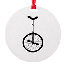Black Unicycle Ornament