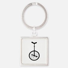 Black Unicycle Keychains