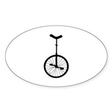 Black Unicycle Decal