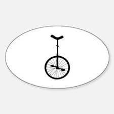 Black Unicycle Decal