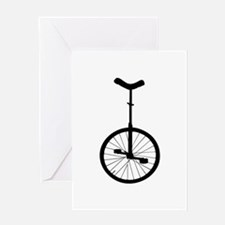 Black Unicycle Greeting Cards
