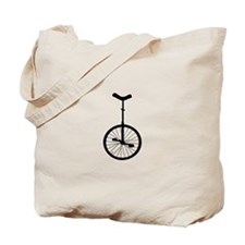 Black Unicycle Tote Bag