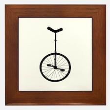 Black Unicycle Framed Tile