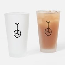 Black Unicycle Drinking Glass