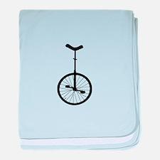 Black Unicycle baby blanket