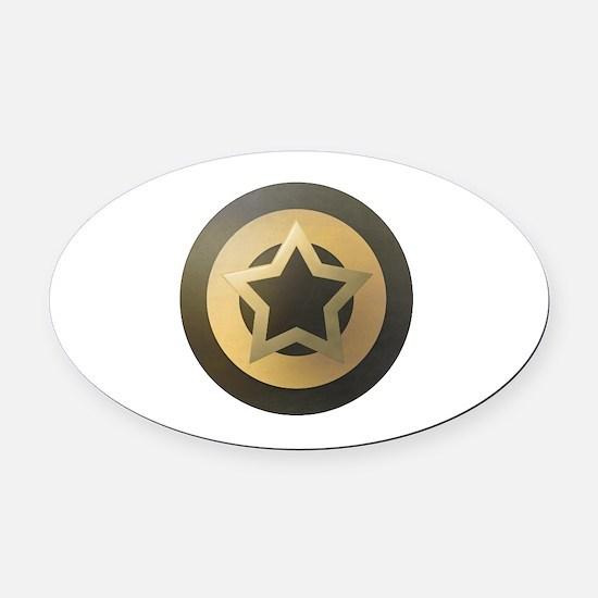 Bronze Star Sheild Oval Car Magnet