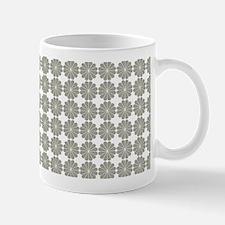 Cute Grey Flower Pattern Mugs