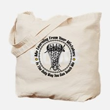 Lacrosse Your Mistakes bkg Tote Bag