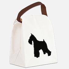 Cute Standard schnauzer Canvas Lunch Bag