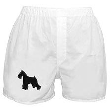 Cute Schnauzer silhouette Boxer Shorts