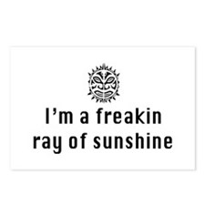 I'm a freakin ray of sunshine Postcards (Package o