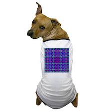 Kaleidoscope Plaid Dog T-Shirt