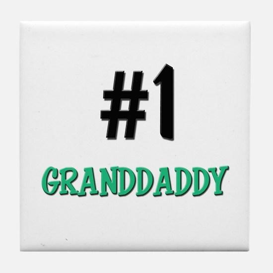 Number 1 GRANDDADDY Tile Coaster