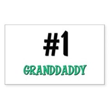 Number 1 GRANDDADDY Rectangle Decal