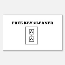 Free Key Cleaner Decal