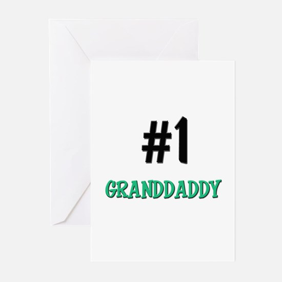Number 1 GRANDDADDY Greeting Cards (Pk of 10)