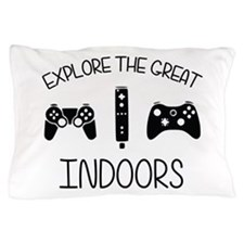 Explore The Great Indoors Video Games Pillow Case