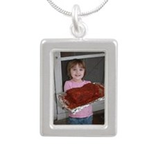 Jayda Silver Portrait Necklace