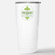 Eat Vegan and No One Ge Stainless Steel Travel Mug