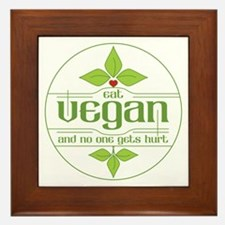 Eat Vegan and No One Gets Hurt Framed Tile