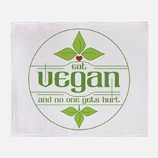 Eat Vegan and No One Gets Hurt Throw Blanket