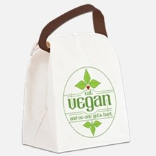 Eat Vegan and No One Gets Hurt Canvas Lunch Bag