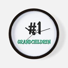 Number 1 GRANDCHILDREN Wall Clock
