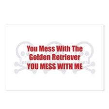 Mess With Retriever Postcards (Package of 8)