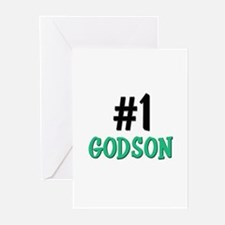 Number 1 GODSON Greeting Cards (Pk of 10)