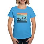 Dogs Chasing Ball Women's Dark T-Shirt