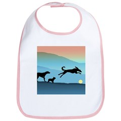 Dogs Chasing Ball Bib