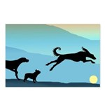 Dogs Chasing Ball Postcards (Package of 8)