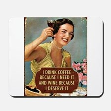 Drink Wine Mousepad