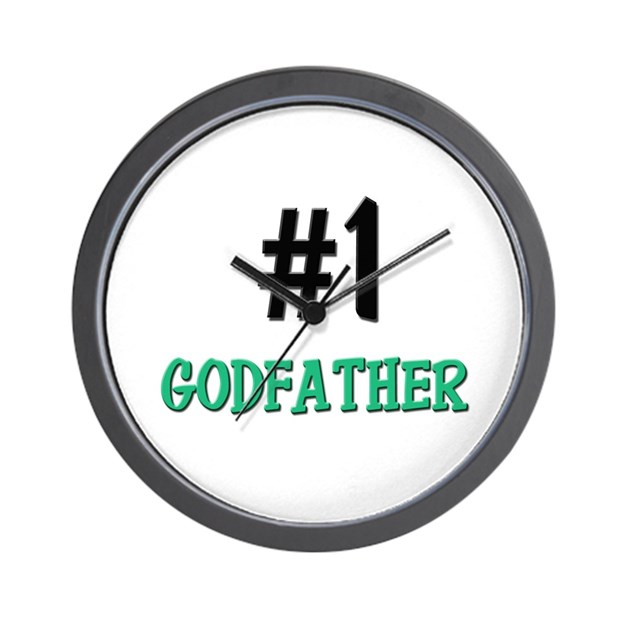 Number 1 Godfather Wall Clock By Familytshirts