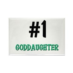 Number 1 GODDAUGHTER Rectangle Magnet (10 pack)