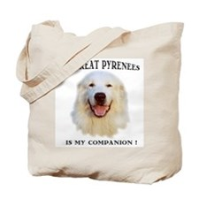 My Great Pyrenees is my Companion, Tote Bag