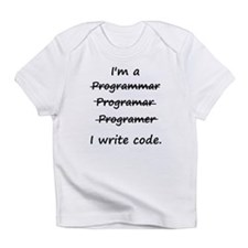 I'm a Programmer I Write Code Bad Speller Infant T