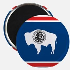 "Wyoming flag 2.25"" Magnet (10 pack)"